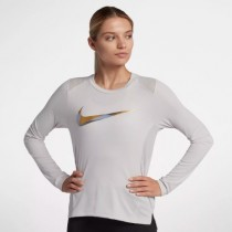 MAJA  W NK MILER TOP LS METALLIC